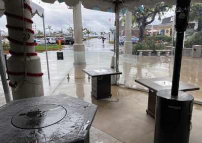 Covered Patio at Marina Wine
