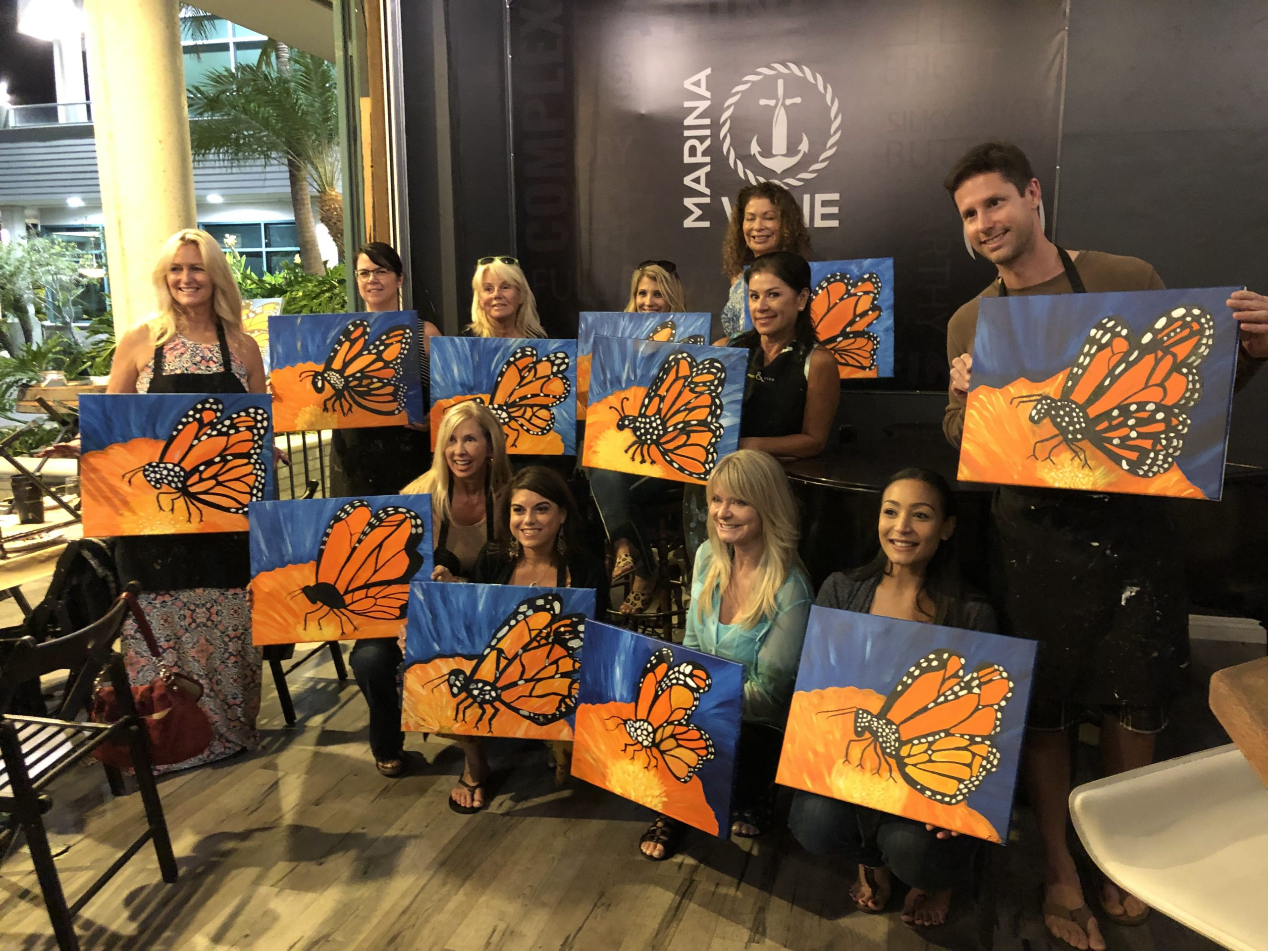 Paint Night at Marina Wine